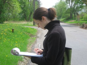Jonnell collecting data